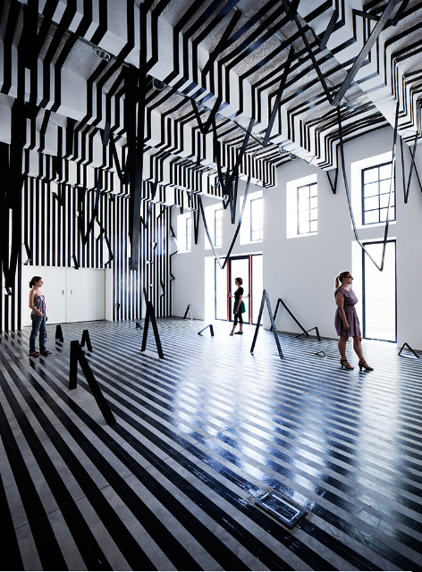 installations by Esther Stocker