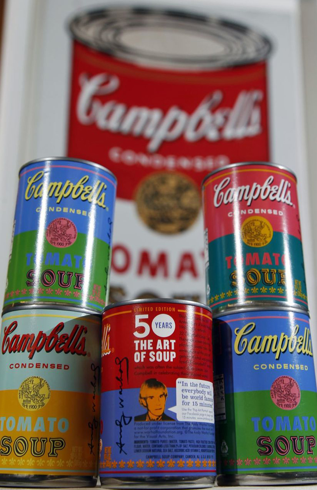 Campbell's Soup Limited Edition Andy Warhol Cans | Photo by Mel Evans