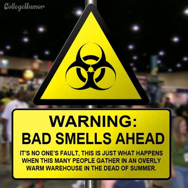Bad Smells Warning Sign