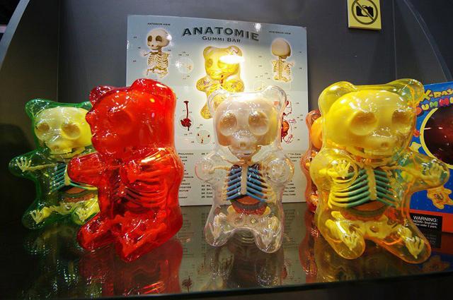 Gummi Bear Anatomy Figures by Jason Freeny