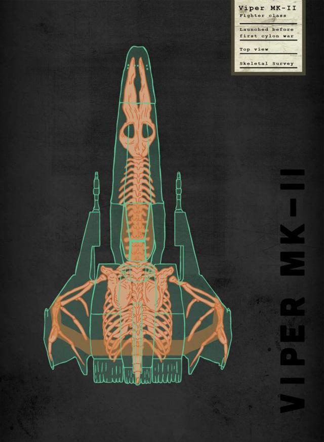 Spaceship Skeletal Survey: Viper Mk-II by Josh Lane