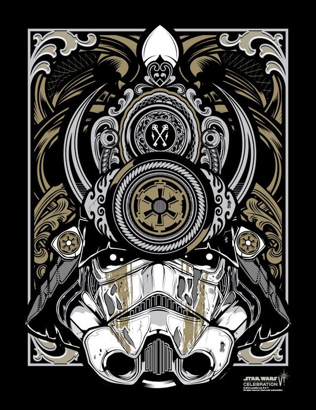 Samurai Trooper, Silk Screen Artist Print by Joshua M. Smith / Hydro74