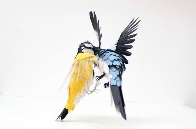 Paper animal sculptures by Diana Beltran Herrera