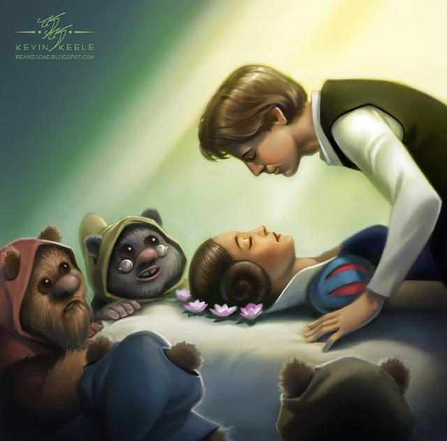 Princess Leia and the Seven Ewoks by Kevin Keele