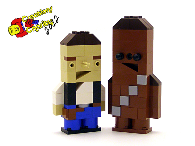 Han and Chewie Charity Characters by Tyler Clites / Legohaulic