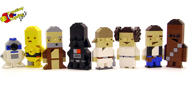 Star Wars Charity Characters by Tyler Clites / Legohaulic