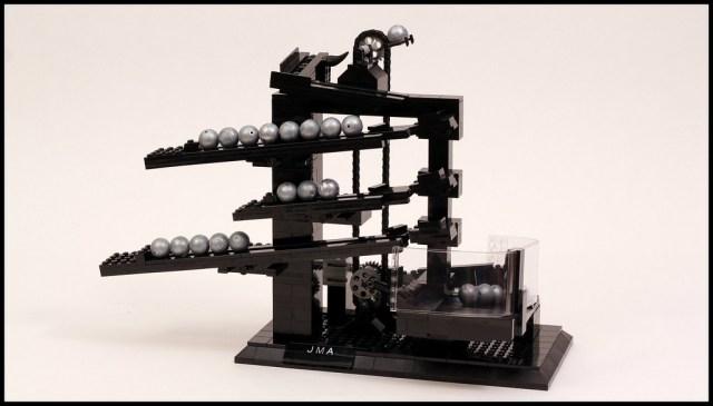 LEGO rolling ball clock by Jason Allemann