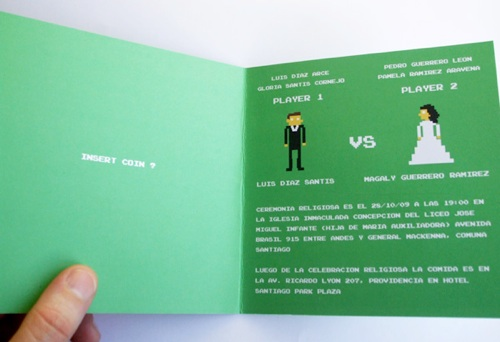 8-Bit Wedding Invitation