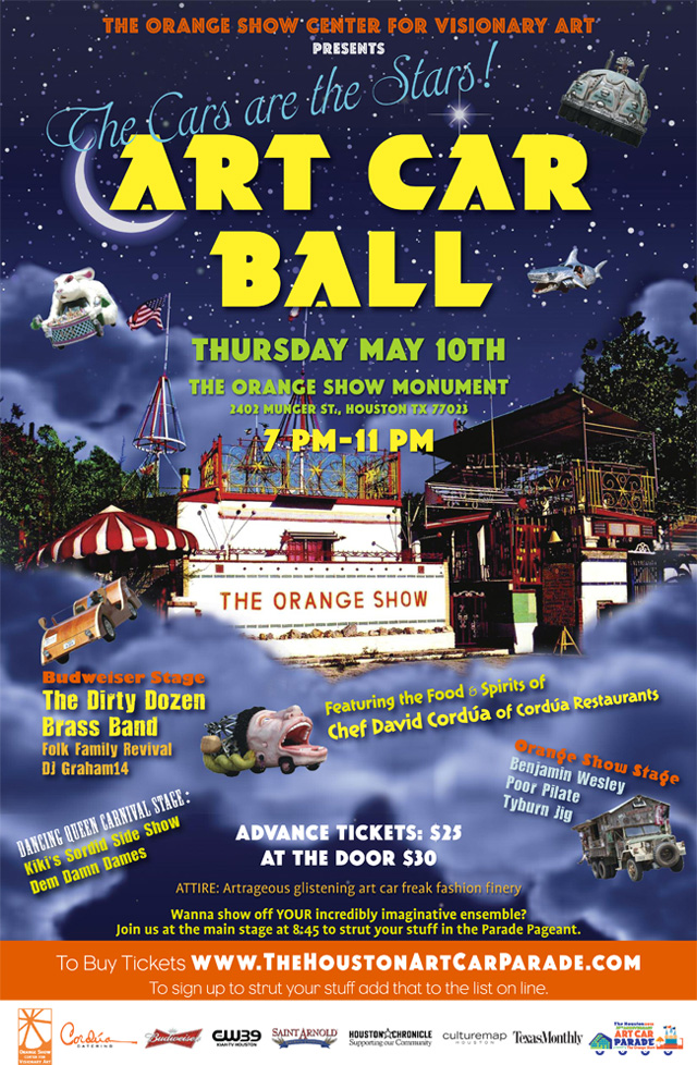Art Car Ball Poster