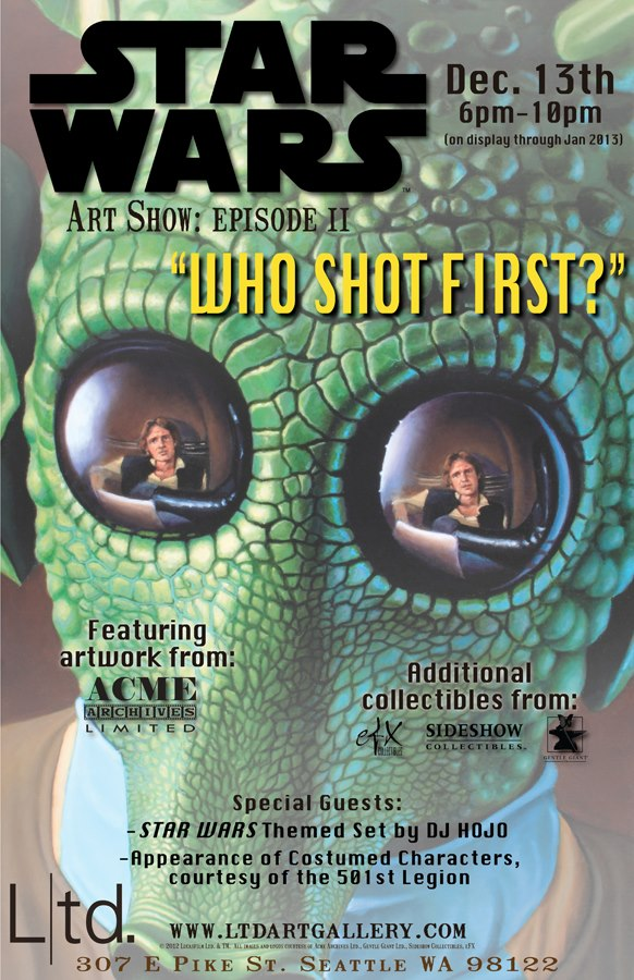 Who Shot First?, A Star Wars Art Show at Ltd. Art Gallery in Seattle