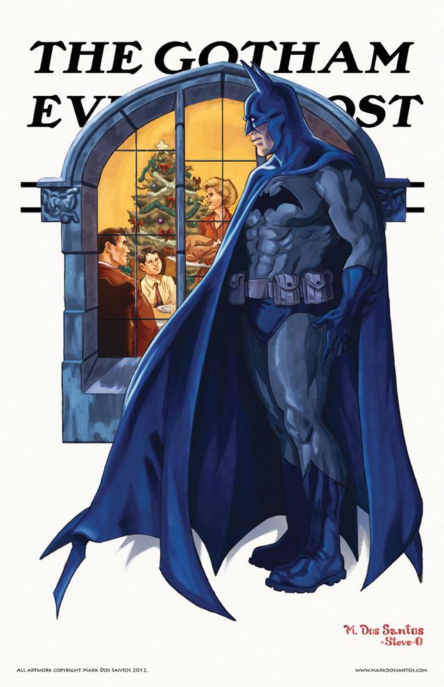 Gotham Evening Post (Christmas) by Mark Dos Santos