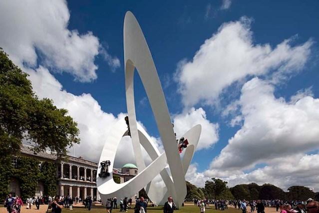 Lotus race car sculpture by Gerry Judah