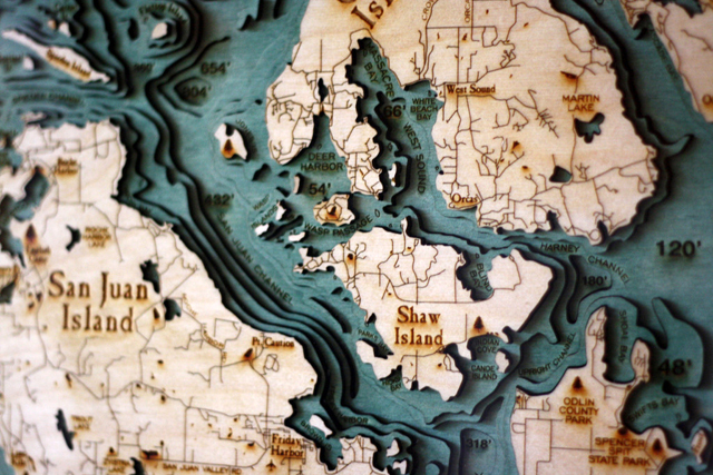 San Juan Islands Detail