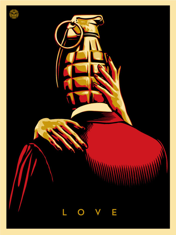 Love is the Drug (Red) by Shepard Fairey