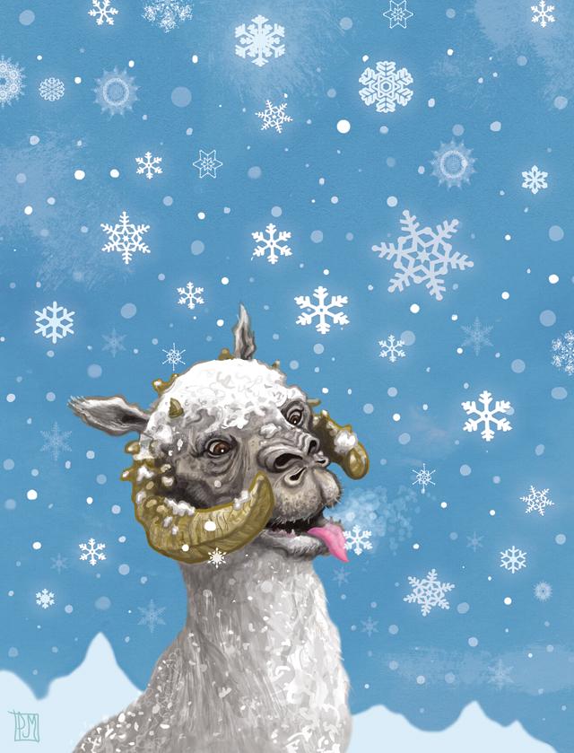 Star Wars Tauntaun Christmas Card