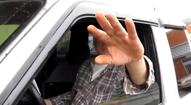 Man in truck