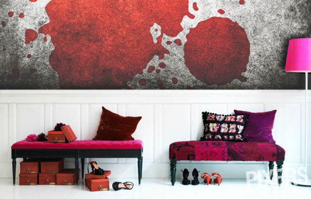 Bloody moon wall murals blood themed photo wallpaper by for Blood in blood out mural