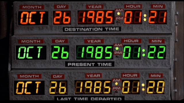 Time Circuit Clock Replica from Back to the Future