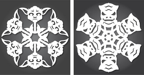 Yoda / Bossk - Star Wars Snowflakes 2012 by Anthony Herrera