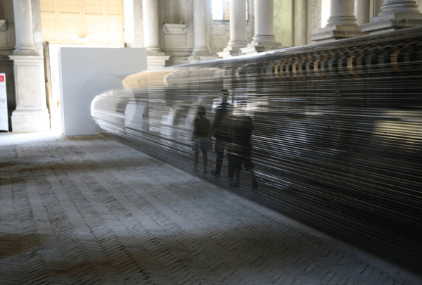 Tube, A Tunnel of Magnetic Tape from VHS Cassettes by Zilvinas Kempinas