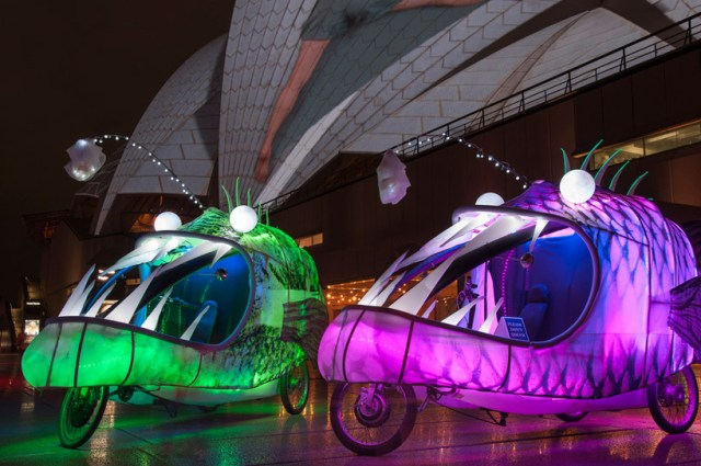 Glowing Angler Tricycles by Group D Creative Collective