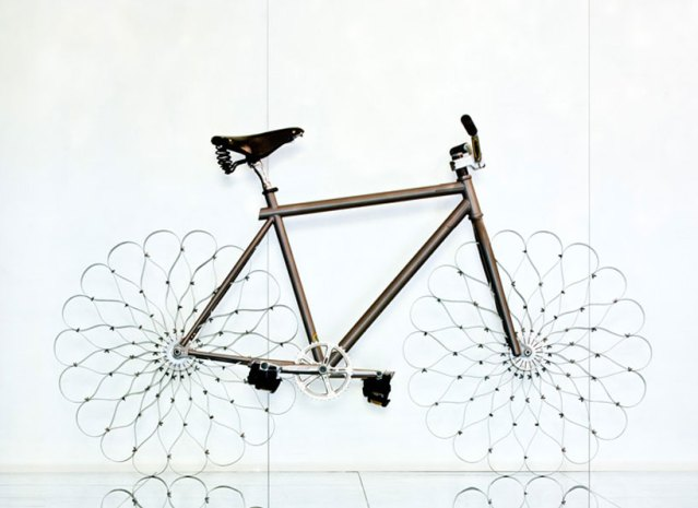 Bicycle with sprung steel wheels by Ron Arad