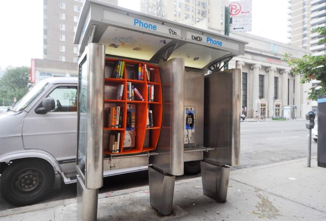 Phone booth library by John Locke