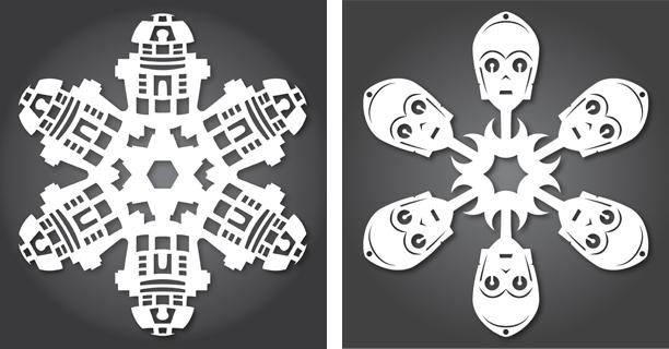 R2-D2 / C-3PO - Star Wars Snowflakes 2012 by Anthony Herrera