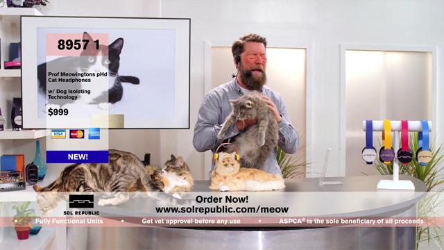 Sol Republic x Professor Meowingtons: World's First Headphones for Cats