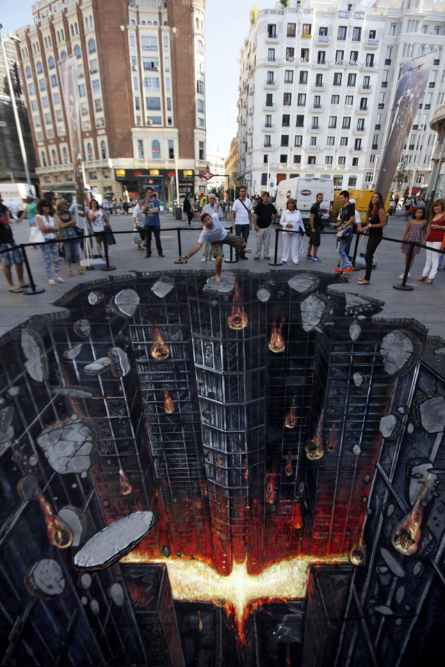 The Dark Knight Rises in Madrid, Spain