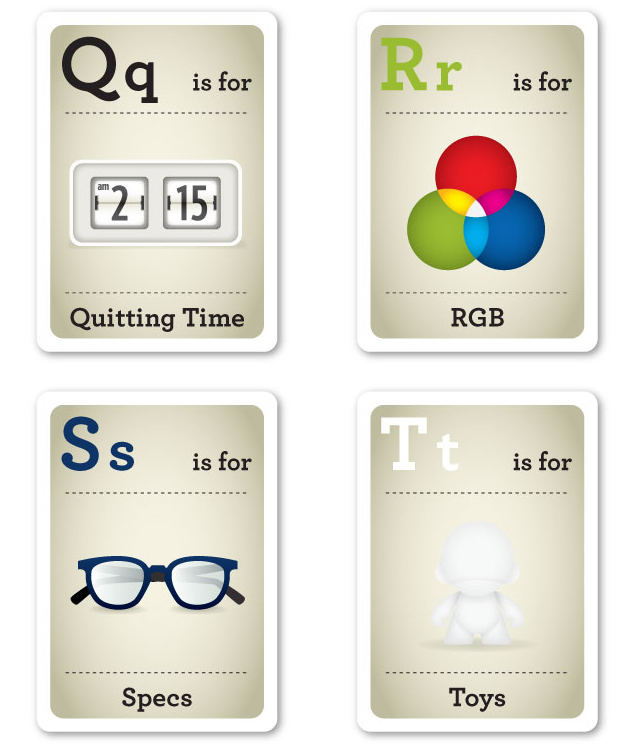 Design Nerd Flash Cards by Emma Cook