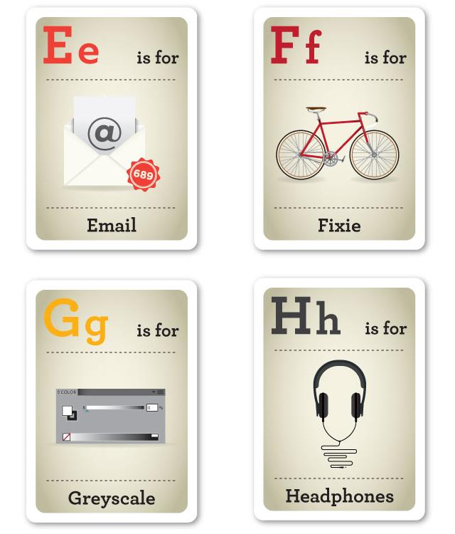 Design Nerd Flash Cards E-H by Emma Cook