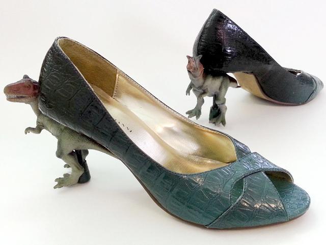 Dinosaur heels by mikeasaurus