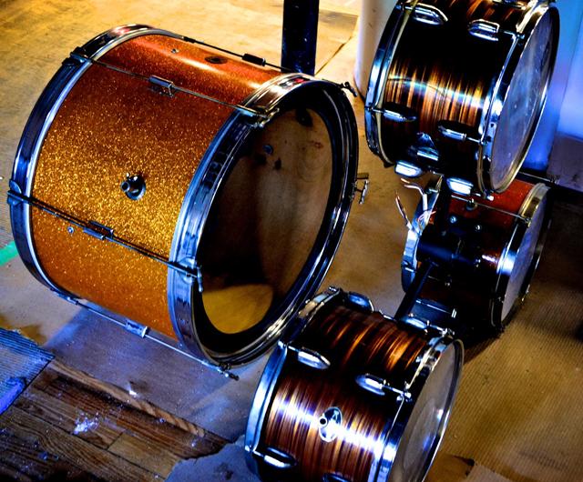 Drum Kit Chandelier by Ludwig Metals