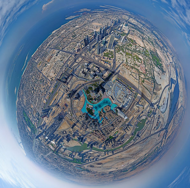 Burj Khalifa panorama by Gerald Donovan