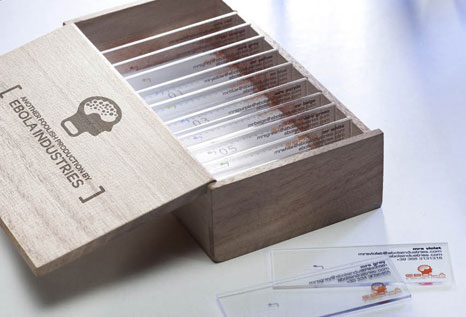 Microscope Slide Business Cards by Enfants Terribles