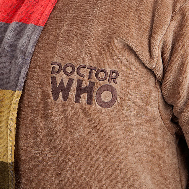 Doctor Who Themed Bathrobe - 4th Doctor (Detail)