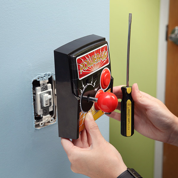 Power-Up Arcade Light Switch Plate at ThinkGeek