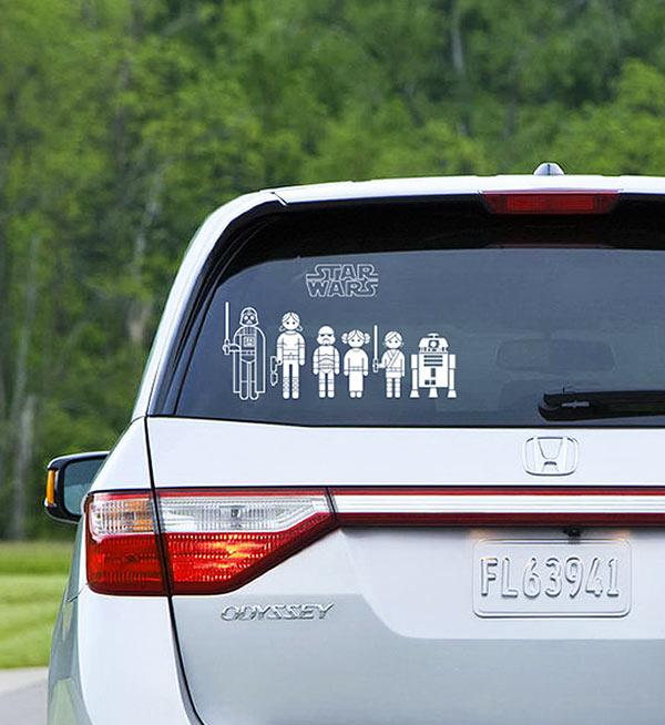 Star Wars car decals