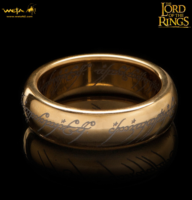 The Lord of the Rings Gold-Plated Tungsten Carbide (The One Ring)