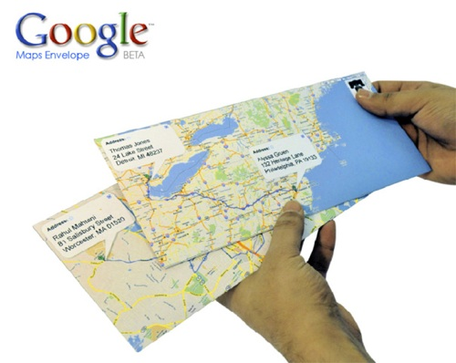 Google Maps Envelope