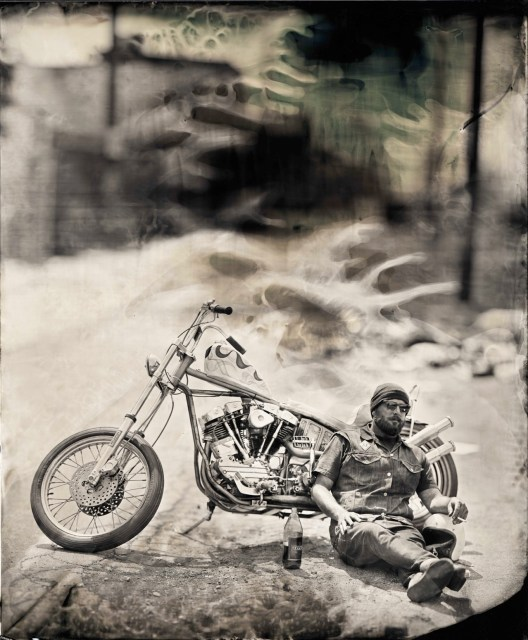 "Ian Ruhter/ Wet Plate Collodion 27""x36""/Jason Wilson / Los Angeles CA 6.3.2012"