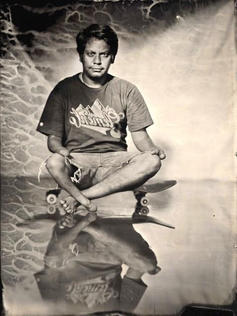 "Ian Ruhter/ Wet Plate Collodion 27""x36""/Oscar Loreto jr/ Los Angeles CA 6.4.2012"