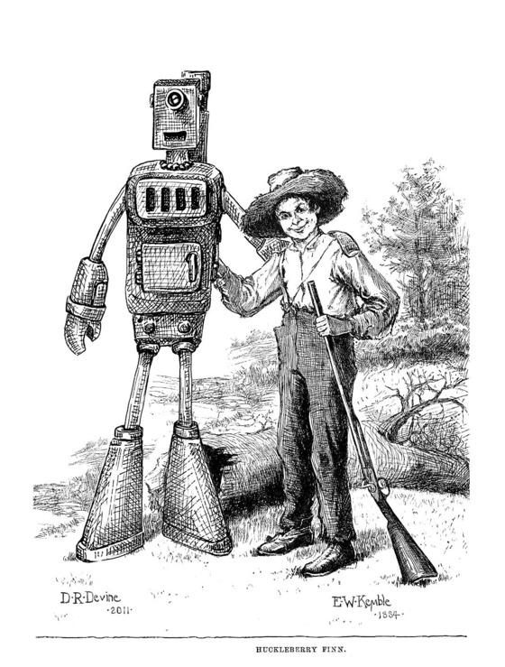 Adventures of Huckleberry Finn [Robotic Edition] by Gabriel Diani and Etta Devine