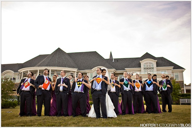 Justice League of America Superhero Groomsmen