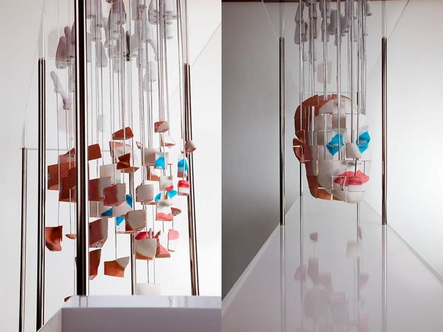 Distorted anamorphic sculptures by Jonty Hurwitz