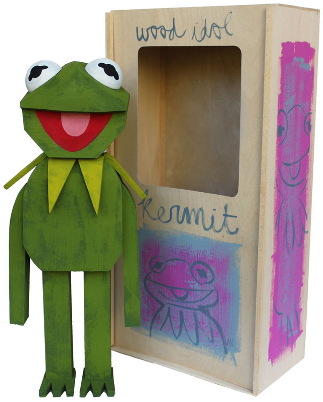 Kermit wood idol by Amanda Visell