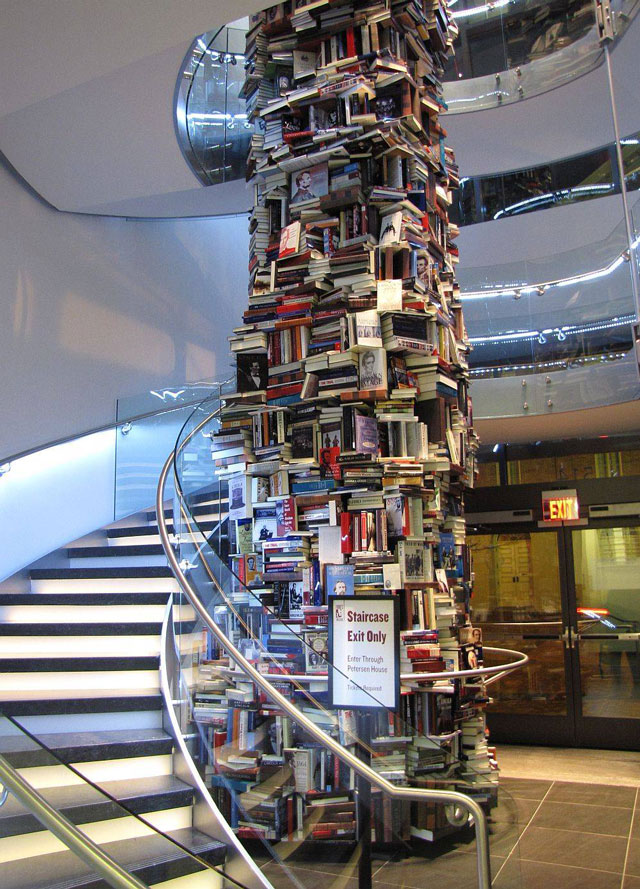 Lincoln tower of books