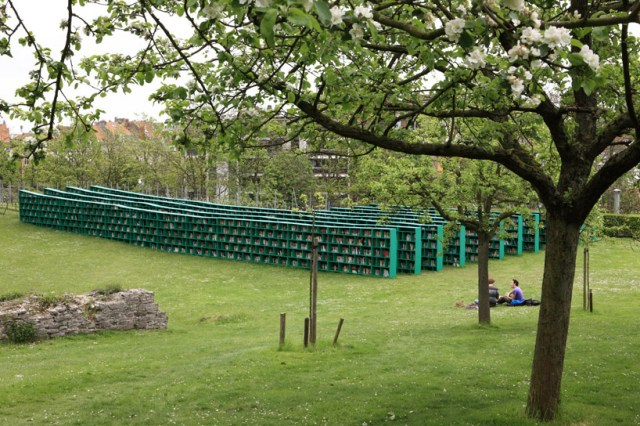 Open air vineyard library by Massimo Bartolini