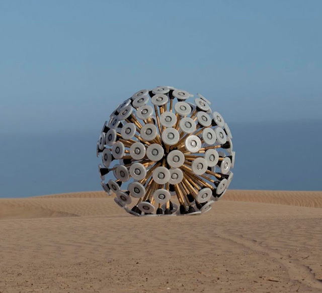 Mine Kafon Wind-Powered Land Mine Clearing Device